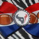 Sporty Bottlecap Bowtie NFL Football Houston Texans Logo Hair Bow ~ Free Shipping