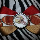 Sporty Bottlecap Bowtie NFL Football San Fransico 49ers Logo Hair Bow ~ Free Shipping