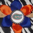 Sporty Bottlecap Flower NCAA Florida Gators Logo Hair Bow ~ Free Shipping