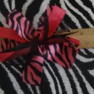 Cheer-riffic Pom Pom Pink Black Zebra Animal Print 4 inch Hair Bow~Free Shipping