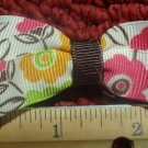 Simply Cute Flowers Print 3 x 1 inch Hair Bow Clip Only $3.00 ~ Free Shipping