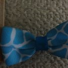 Simply Cute Blue Giraffe Animal Print 3 x 1 inch Hair Bow Clip Only $3.00 ~ Free Shipping