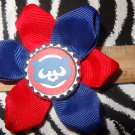 Sporty Bottlecap Flower MLB Baseball Chicago Cubs Cute Bear Logo Hair Bow ~ Free Shipping