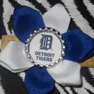 Sporty Bottlecap Flower MLB Baseball Detroit Tigers Logo Hair Bow ~ Free Shipping