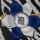 Sporty Bottlecap Flower MLB Baseball Detroit Tigers Hair Bow ~ Free Shipping