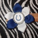 Sporty Bottlecap Flower NFL Football Indianapolis Colts Logo Hair Bow ~ Free Shipping