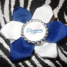 Sporty Bottlecap Flower MLB Baseball Los Angeles Dodgers Hair Bow ~ Free Shipping