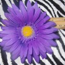 Fab Floral Purple Large Gerber Daisy Flower Hair Bow on Lined Alligator Clip ~ Free Shipping