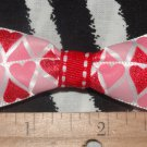 Simply Cute Red Pink Hearts 3 x 1 inch Hair Bow Clip ~ Free Shipping