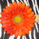 Fab Floral Orange Large Gerber Daisy Flower Hair Bow on Lined Alligator Clip ~ Free Shipping