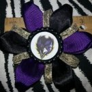 Sporty Bottlecap Flower NFL Football Baltimore Ravens Bird Sparkly Hair Bow ~ Free Shipping
