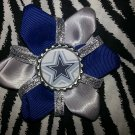 Sporty Bottlecap Flower NFL Football Dallas Cowboys Sparkly Hair Bow ~ Free Shipping