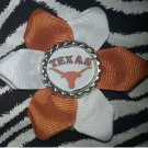 Sporty Bottlecap Flower NCAA University of Texas Longhorns Hair Bow ~ Free Shipping