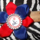 Sporty Bottlecap Flower NBA Basketball Washington Wizards Vintage Logo Hair Bow ~ Free Shipping
