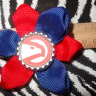 Sporty Bottlecap Flower NBA Basketball Atlanta Hawks Vintage Logo Hair Bow ~ Free Shipping