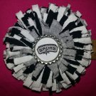 Sporty Bottlecap Fringe Flower NBA Basketball San Antonio Spurs Logo Hair Bow ~ Free Shipping