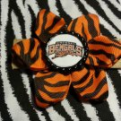 Sporty Bottlecap Flower NFL Football Cincinnati Bengals Logo Animal Print Hair Bow ~ Free Shipping