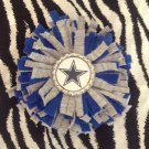 Sporty Bottlecap Fringe Flower NFL Football Dallas Cowboys Star Hair Bow ~ Free Shipping