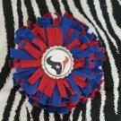 Sporty Bottlecap Fringe Flower NFL Football Houston Texans Hair Bow ~ Free Shipping