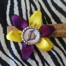 "Sporty Bottlecap Flower NBA Basketball Los Angeles LA Lakers ""L"" Hair Bow ~ Free Shipping"