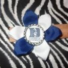 Sporty Bottlecap Flower NCAA Duke University Blue Devils Hair Bow ~ Free Shipping