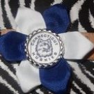 Sporty Bottlecap Flower NCAA UConn Connecticut Huskies Hair Bow ~ Free Shipping