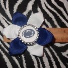 Sporty Bottlecap Flower NCAA Penn State Nittany Lions Hair Bow ~ Free Shipping
