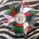 Bottlecap Flower FIFA World Cup Mexico Hair Bow ~ Free Shipping