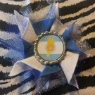 Bottlecap Flower FIFA World Cup Argentina Hair Bow ~ Free Shipping
