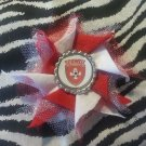 Bottlecap Flower FIFA World Cup Switzerland Hair Bow ~ Free Shipping