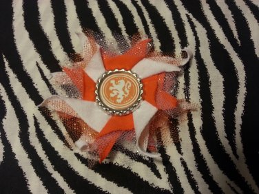 Bottlecap Flower FIFA World Cup Netherlands Hair Bow ~ Free Shipping