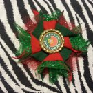 Bottlecap Flower FIFA World Cup Portugal Hair Bow ~ Free Shipping