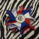 Bottlecap Flower FIFA World Cup Costa Rica Hair Bow ~ Free Shipping