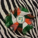 Bottlecap Flower FIFA World Cup Ivory Coast Hair Bow ~ Free Shipping