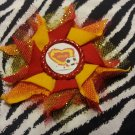 Bottlecap Flower FIFA World Cup Spain Hair Bow ~ Free Shipping