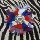 Bottlecap Flower FIFA World Cup Chile Hair Bow ~ Free Shipping