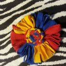 Loopy Flower FIFA World Cup Yellow Blue Red Hair Bow ~ Free Shipping