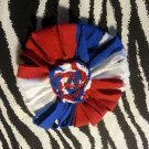Loopy Flower FIFA World Cup USA White Blue Red Hair Bow ~ Free Shipping