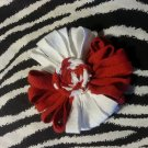 Loopy Flower FIFA World Cup White Red Hair Bow ~ Free Shipping