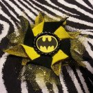 Bottlecap Flower Batman Hair Bow ~ Free Shipping