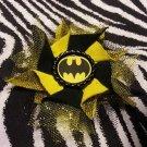 Bottlecap Flower Batman Hair Bow ~ Free Shipping