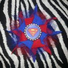 Bottlecap Flower Superman Hair Bow ~ Free Shipping