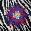 Bottlecap Flower Wonder Woman Hair Bow ~ Free Shipping
