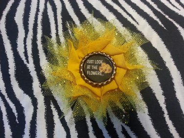 Bottlecap Flower The Walking Dead Just Look at the Flowers  Hair Bow ~ Free Shipping