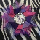 Bottlecap Flower My Little Pony Twilight Sparkle Hair Bow ~ Free Shipping