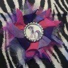 Bottlecap Flower My Little Pony Twilight Sparkle Hair Bow ~ Free Shipping