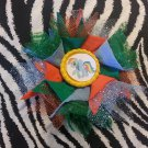 Bottlecap Flower My Little Pony Rainbow Dash Hair Bow ~ Free Shipping