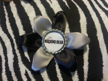 Bottlecap Flower The Walking Dead Hair Bow ~ Free Shipping