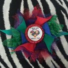 Bottlecap Flower Autism Awareness Love My Sister Hair Bow ~ Free Shipping
