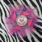 Bottlecap Flower Autism Awareness Pink Light Purple Hair Bow ~ Free Shipping